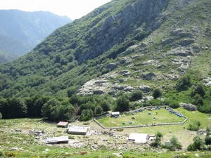 The campsite at Refuge de L'Onda.