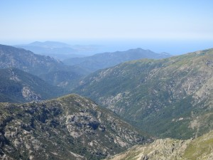 Several places on the GR20, the view extends all the way to the West coast!