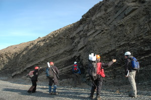 Geologists admire Triassic sandstone beds. We are easy to please!