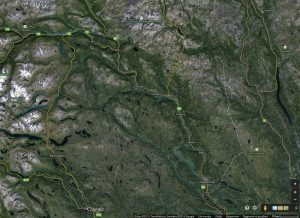Google-map, to show the location of Vinstra in Gudbrandsdalen in central Norway, an hour drive north of Lilyhammer.