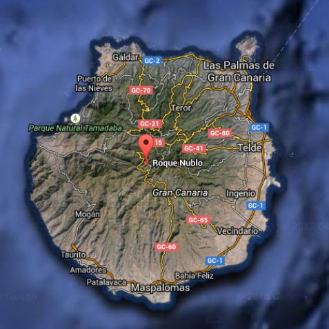 Gran Canaria with Roque Nublo in the centre: A continent in miniature.