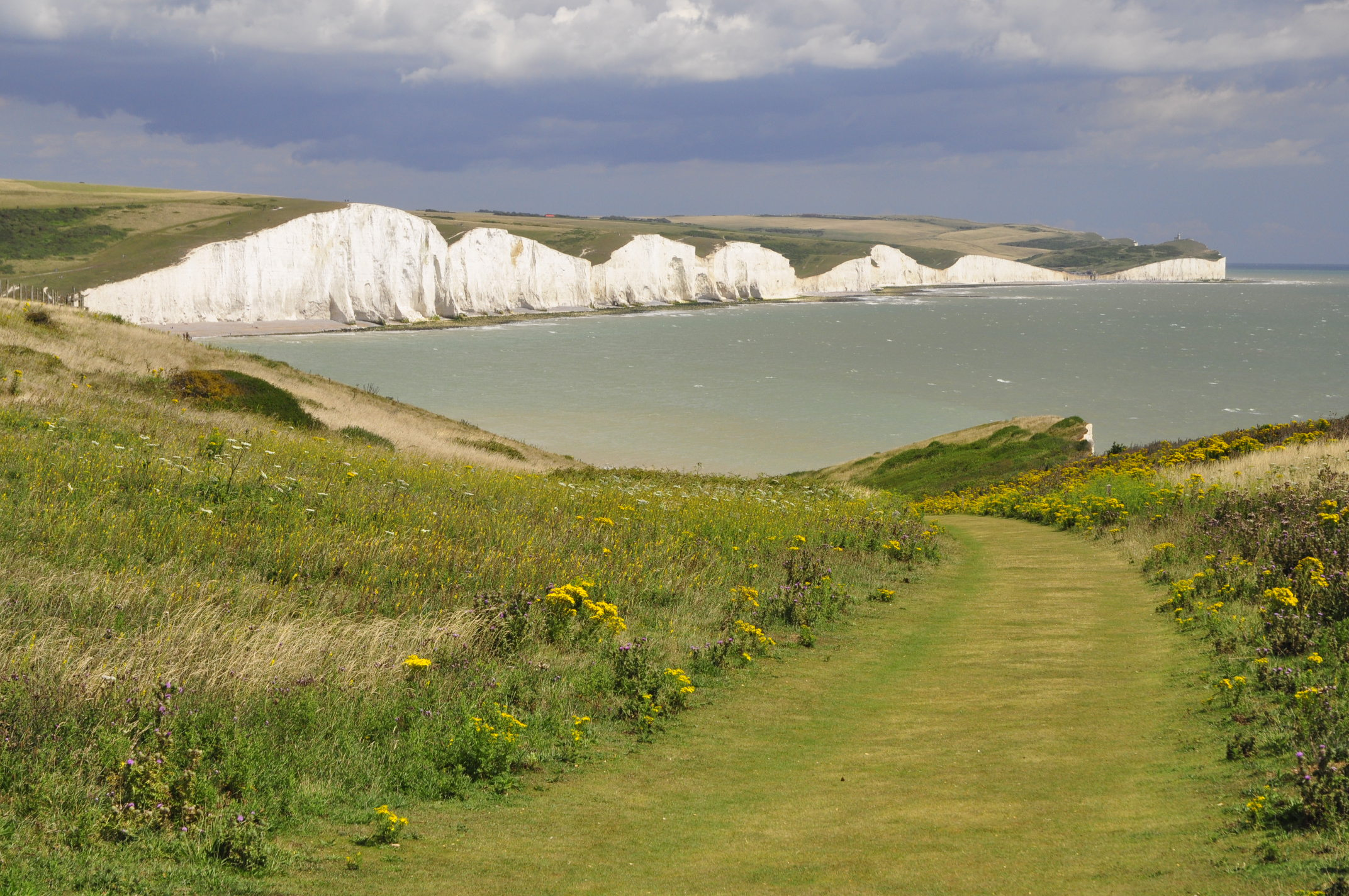Rolling hills, green pastures, the steep white Seven Sisters cliffs - very English!