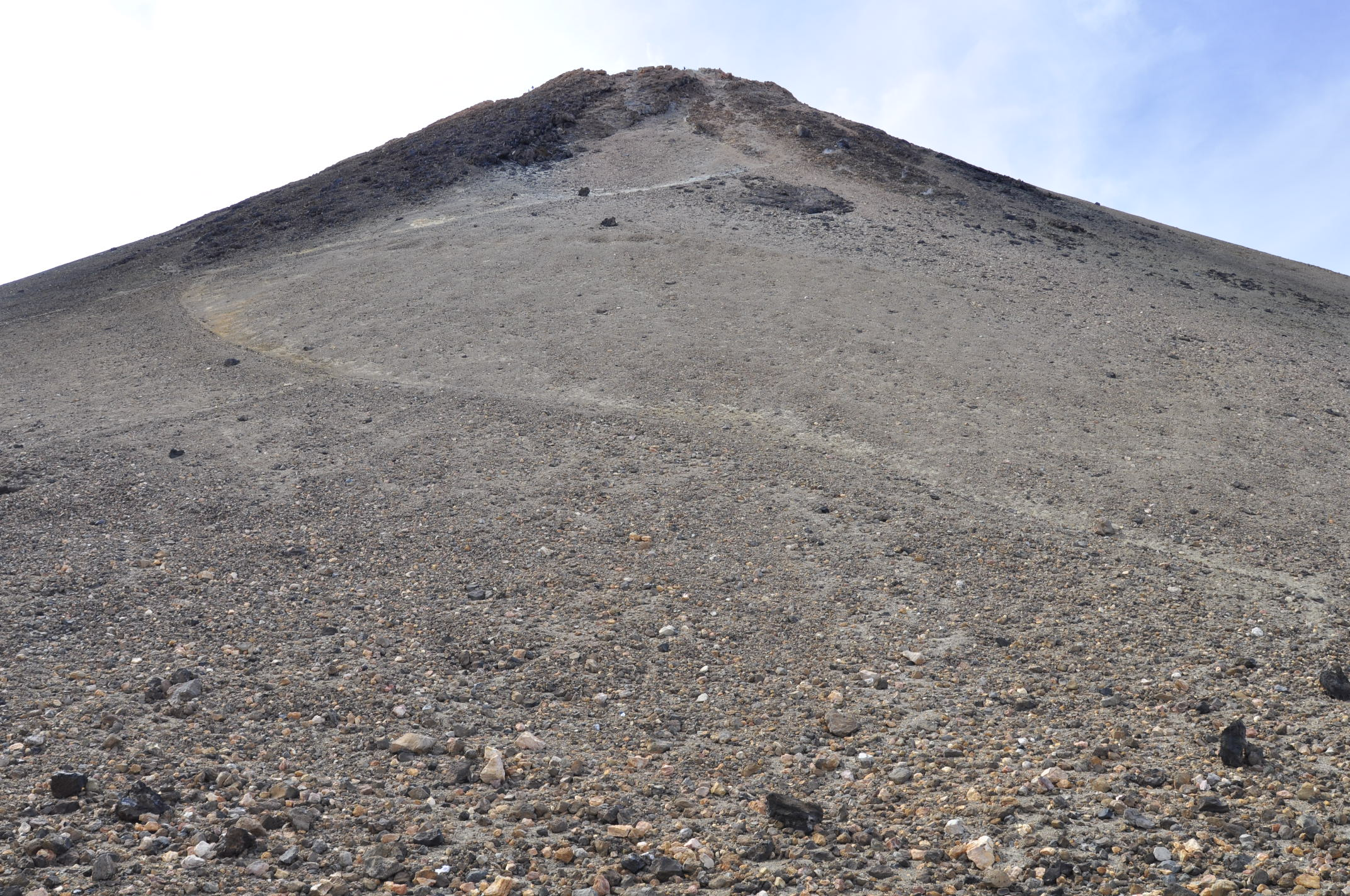 The top summit, seen from footpath near the cable car station. Only a limited number of passes to the top are awarded each day.