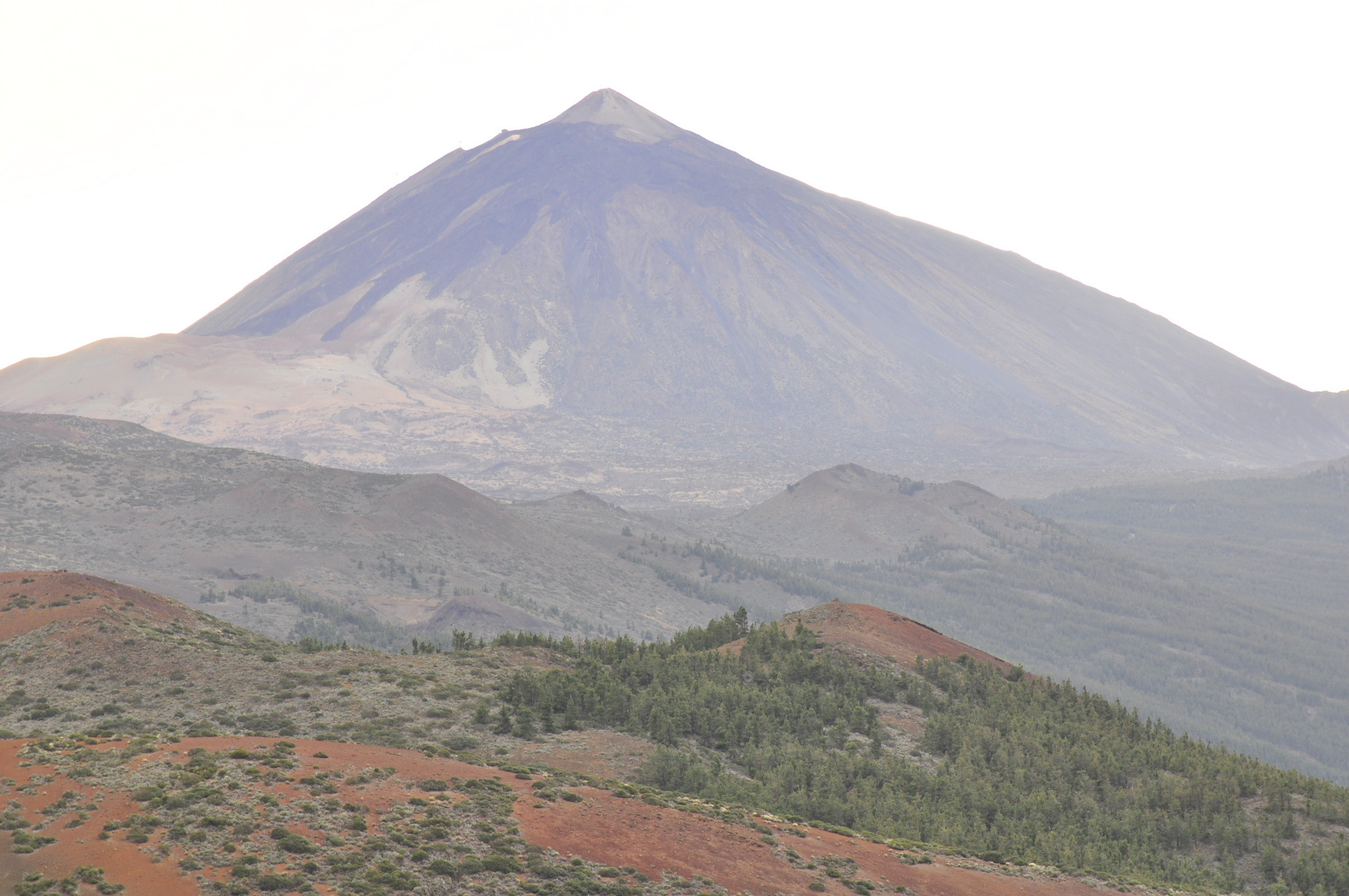 The majestic peak of El Teide, seen from Tenerife's backbone towards the north.