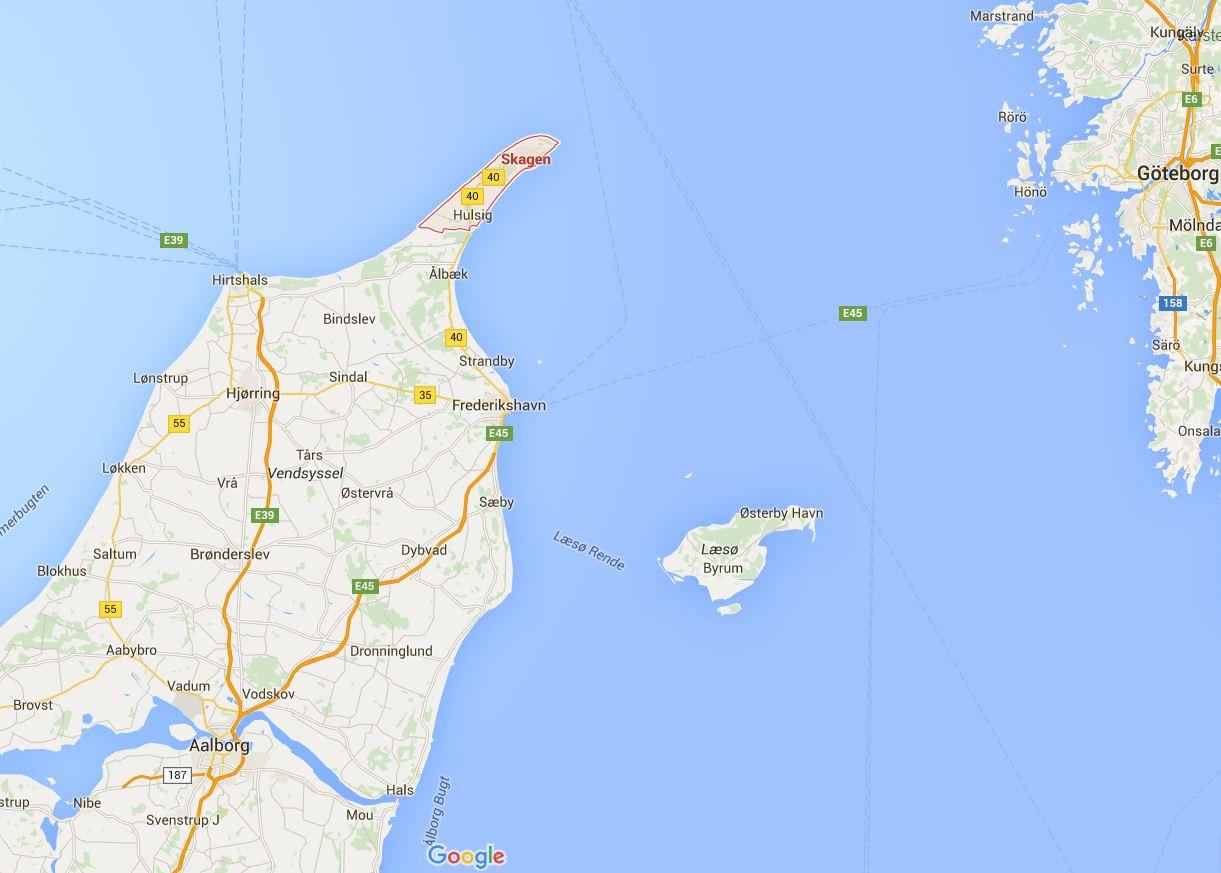 kart over skagen Light, sand, action! – in Skagen, Denmark | Adventures in geology  kart over skagen